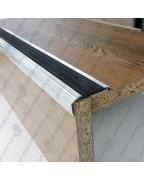 Алюминиевый угловой порожек с резиновой вставкой УЛ 151 БП 3,0м