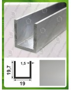 19.7*19*19.7*1,5. Алюминиевый швеллер, анод «Серебро»