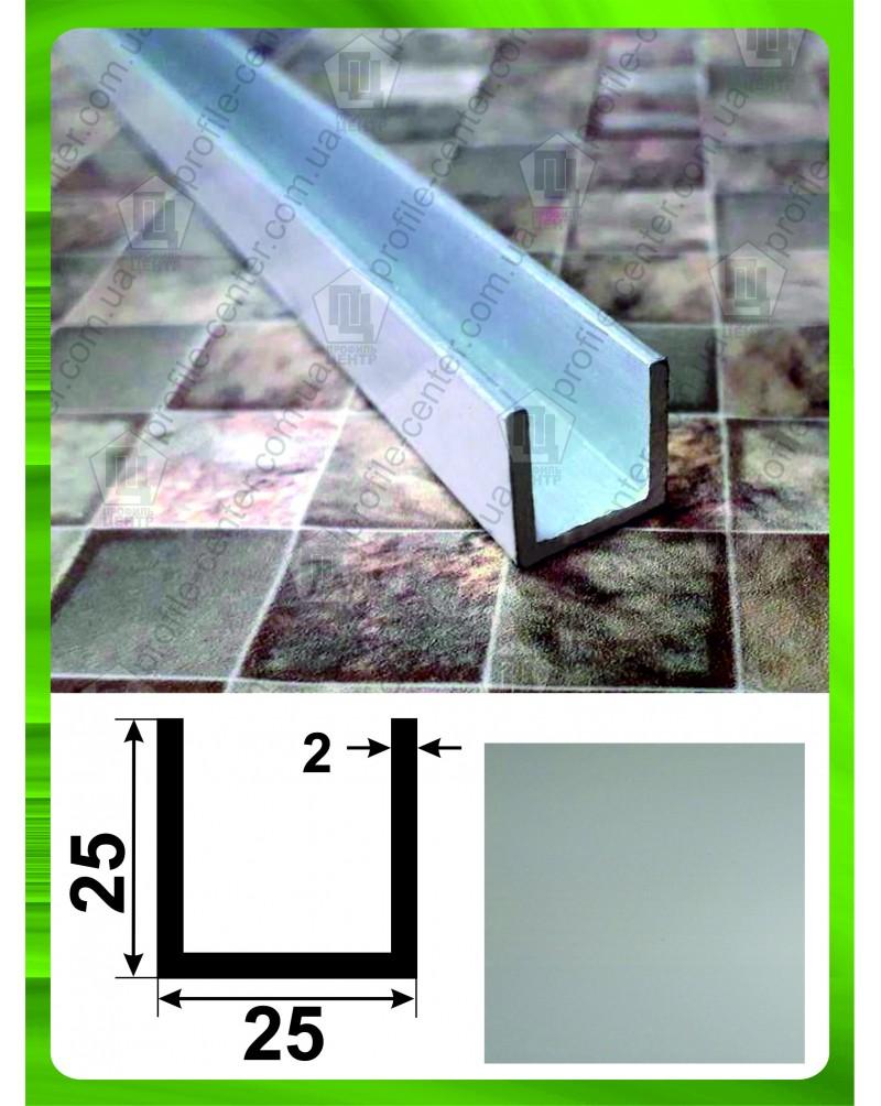 25*25*25*2. Алюминиевый швеллер, анод «Серебро»