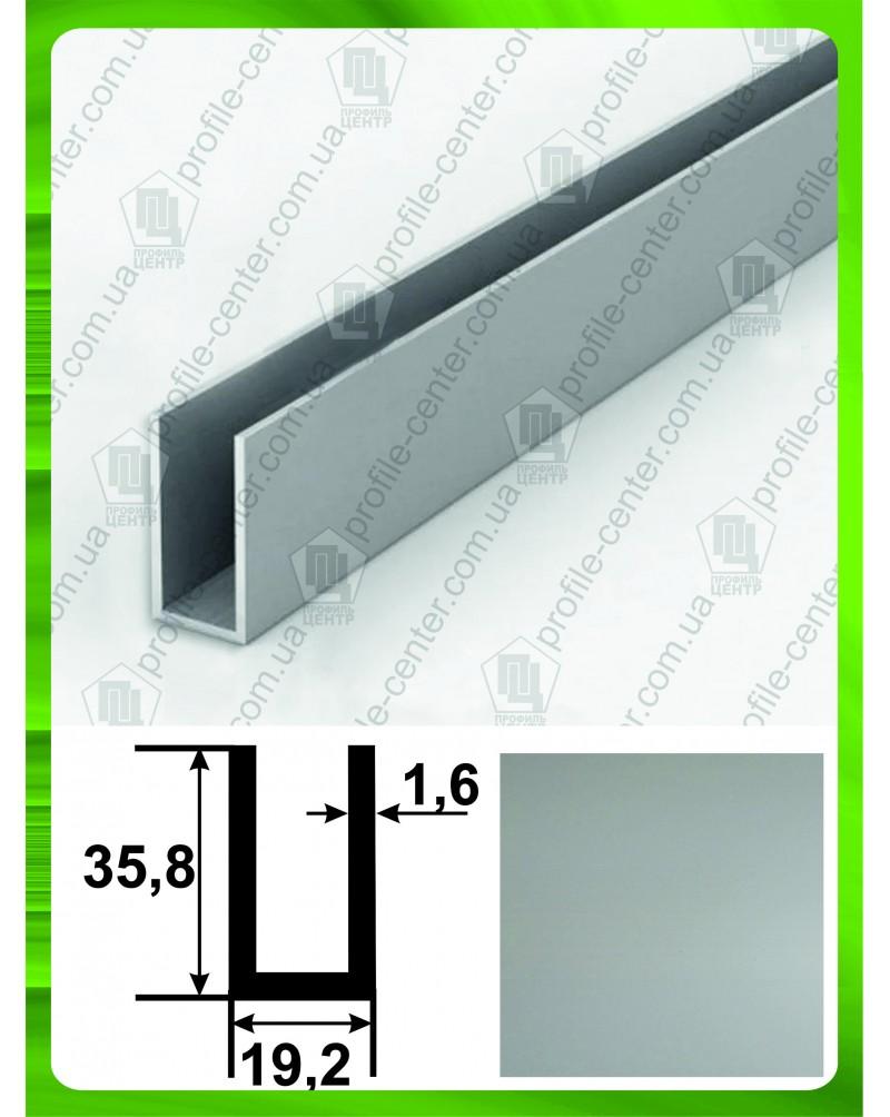 35.8*19.2*35.8*1.6. Алюмінієвий швелер, анод «срібло»