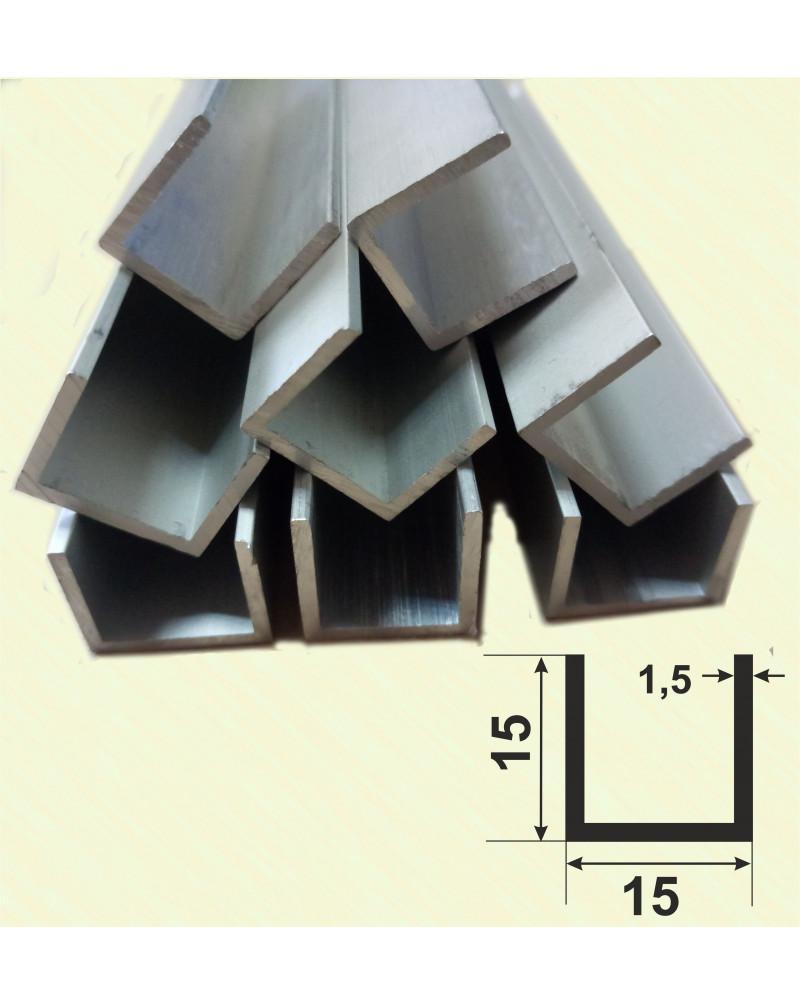 15*15*15*1,5. Алюмінієвий швелер, без покриття 3,0 м.
