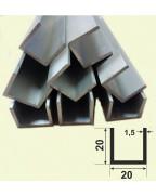 20*20*20*1,5. Алюминиевый швеллер, без покрытия 3,0 м.