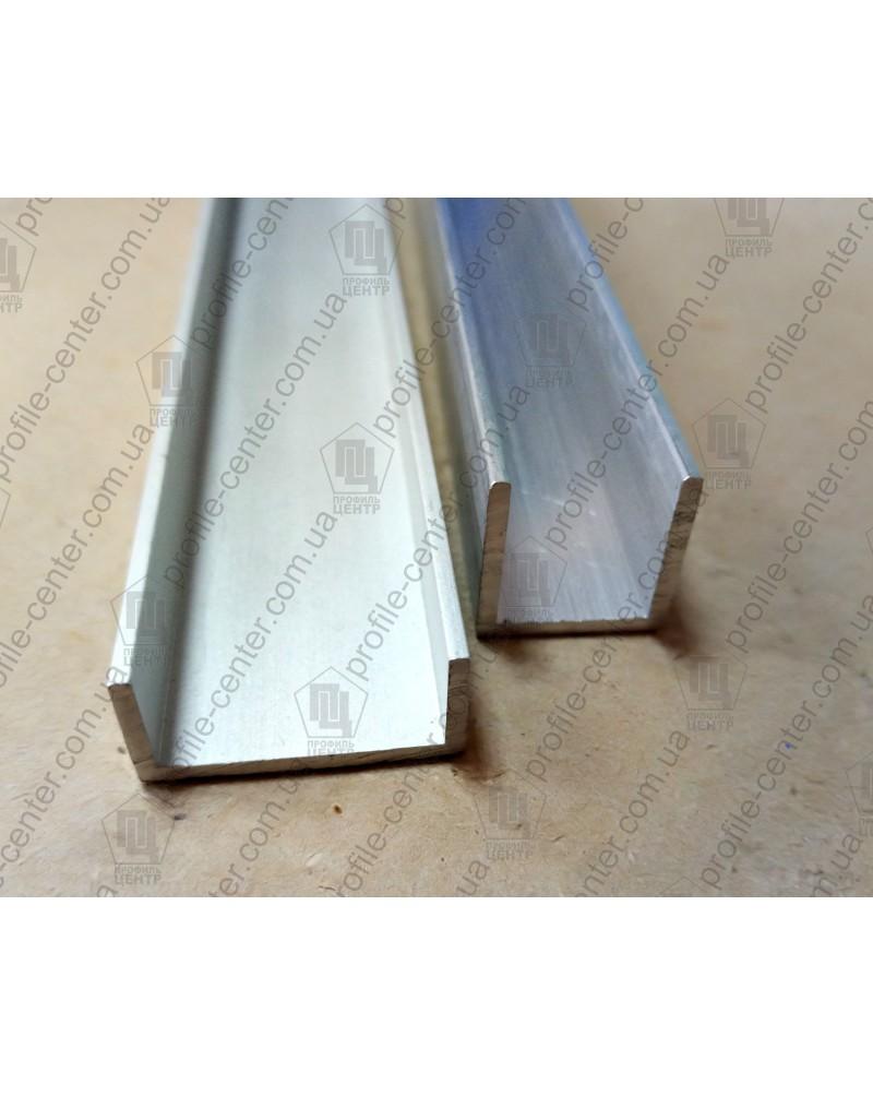 20*30*20*1,5. Алюмінієвий швелер, анод «срібло»