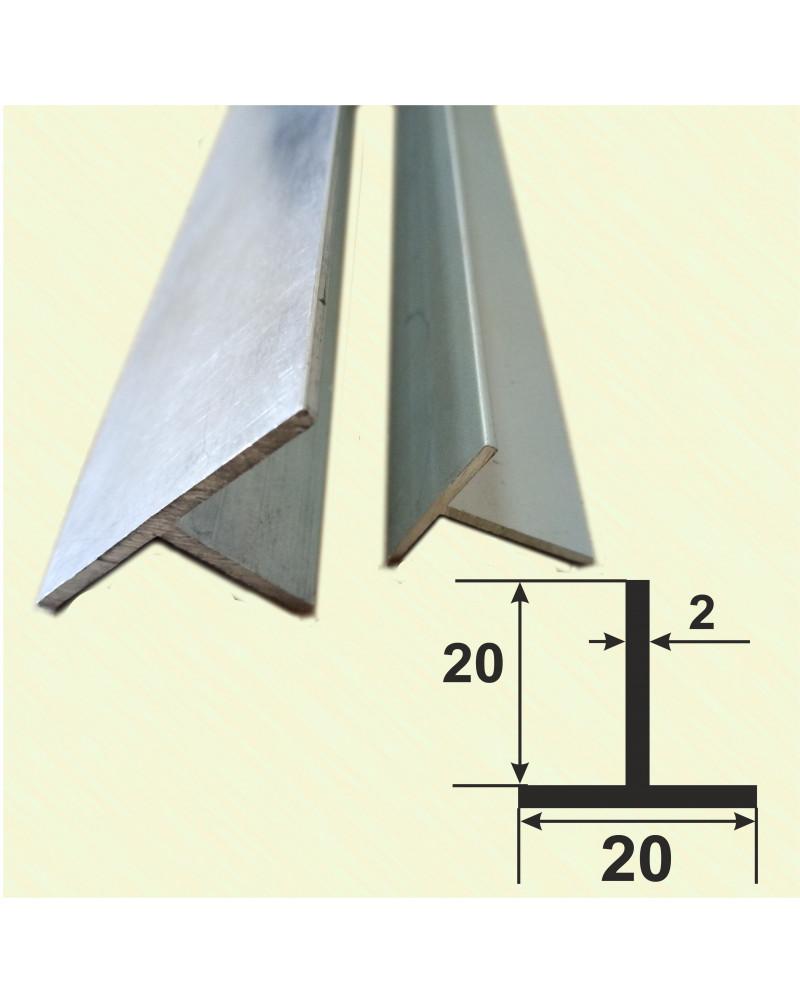 20*20*2. Алюминиевый тавр, анод «Серебро» 3,0 м.