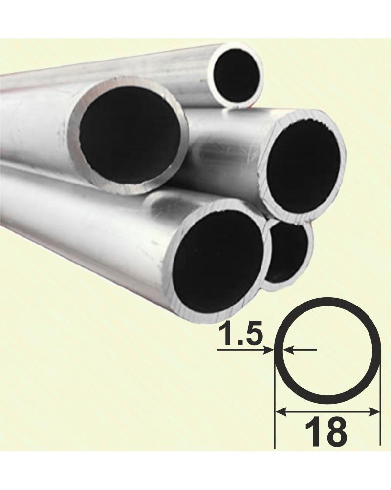 18*1.5. Алюмінієва кругла труба, без покриття 3,0 м.