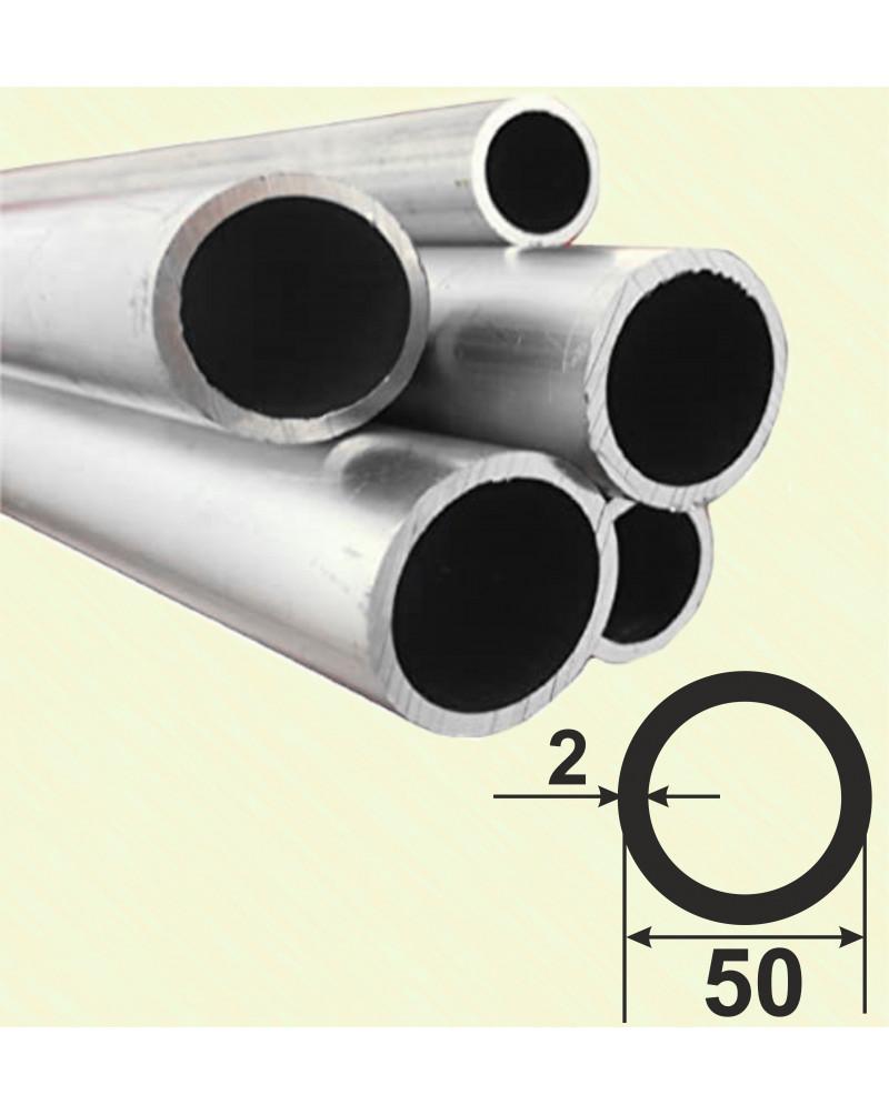 50*2. Алюмінієва кругла труба, без покриття 3,0 м.