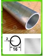16*2. Алюминиевая круглая труба, без покрытия