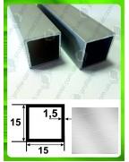 15*15*1.5. Алюминиевая квадратная труба, без покрытия