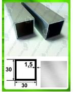 25*25*1.5. Алюминиевая квадратная труба, без покрытия