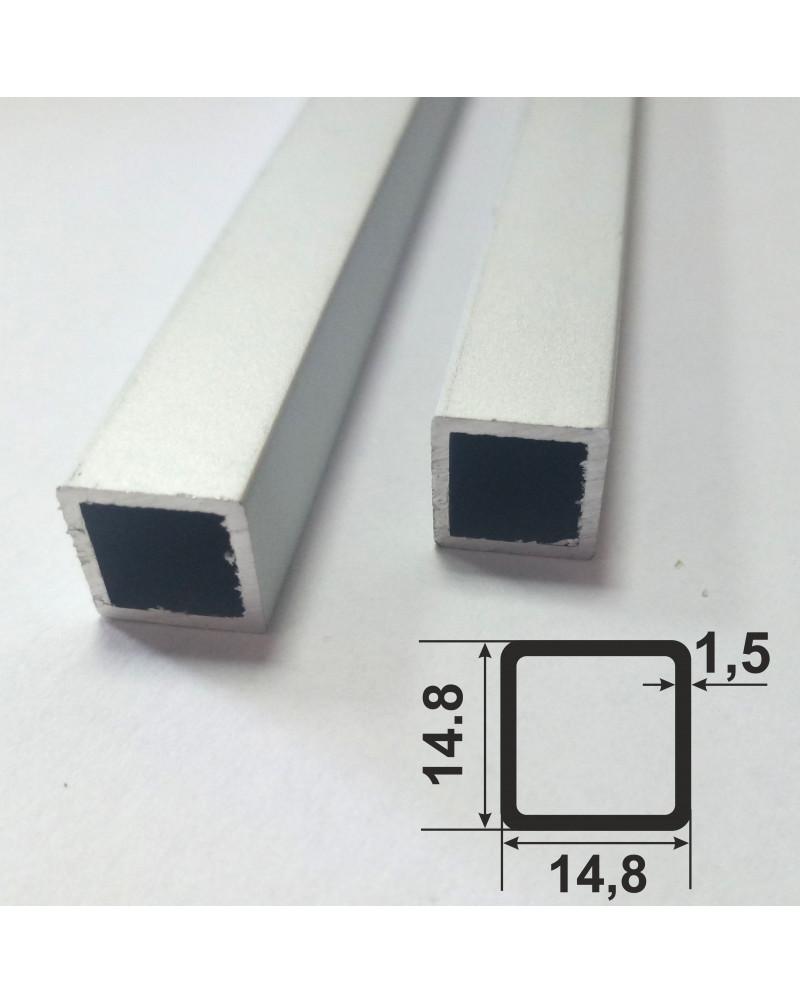 14.8*14.8*1.5. Алюминиевая квадратная труба, без покрытия 3,0 м.