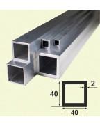 40*40*2. Алюмінієва квадратна труба, без покриття