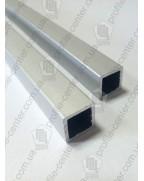 14.8*14.8*1.5. Алюминиевая квадратная труба, анод «Серебро»