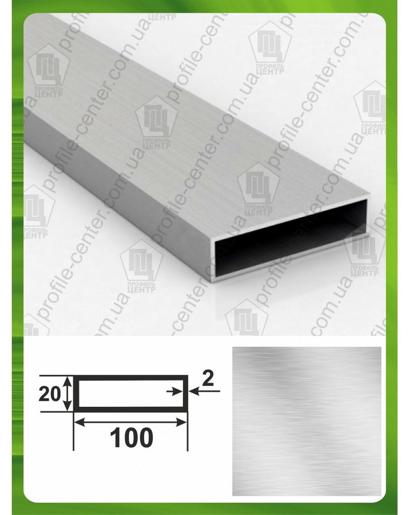 100*20*2. Алюминиевая прямоугольная труба, без покрытия 3,0 м.
