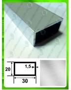 30*20*1,5. Алюминиевая прямоугольная труба, без покрытия