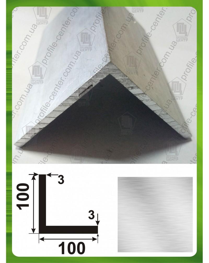 100*100*3. Алюмінієвий куточок рівносторонній, без покриття