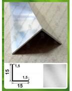15*15*1.5. Алюминиевый уголок равносторонний, без покрытия