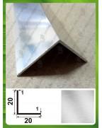 20*20*1. Алюмінієвий куточок рівносторонній, без покриття
