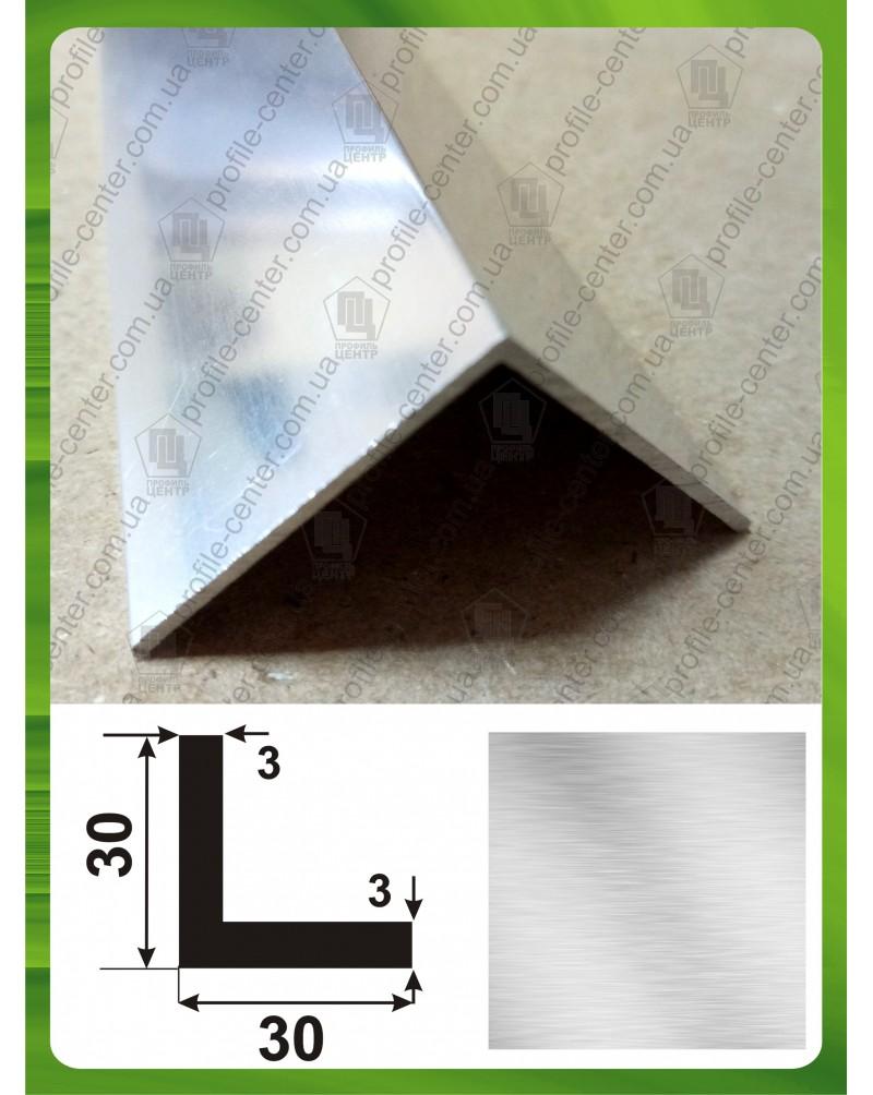30*30*3. Алюминиевый уголок равносторонний, без покрытия