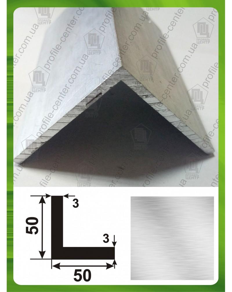 50*50*3. Алюминиевый уголок равносторонний, без покрытия