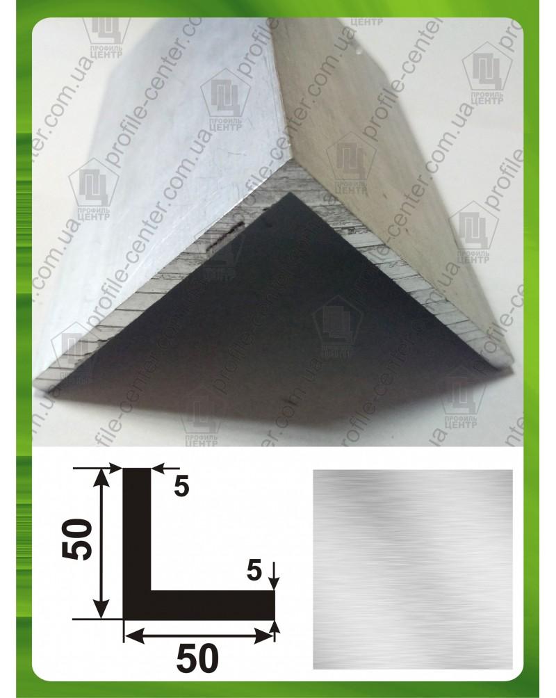 50*50*5. Алюминиевый уголок равносторонний, без покрытия