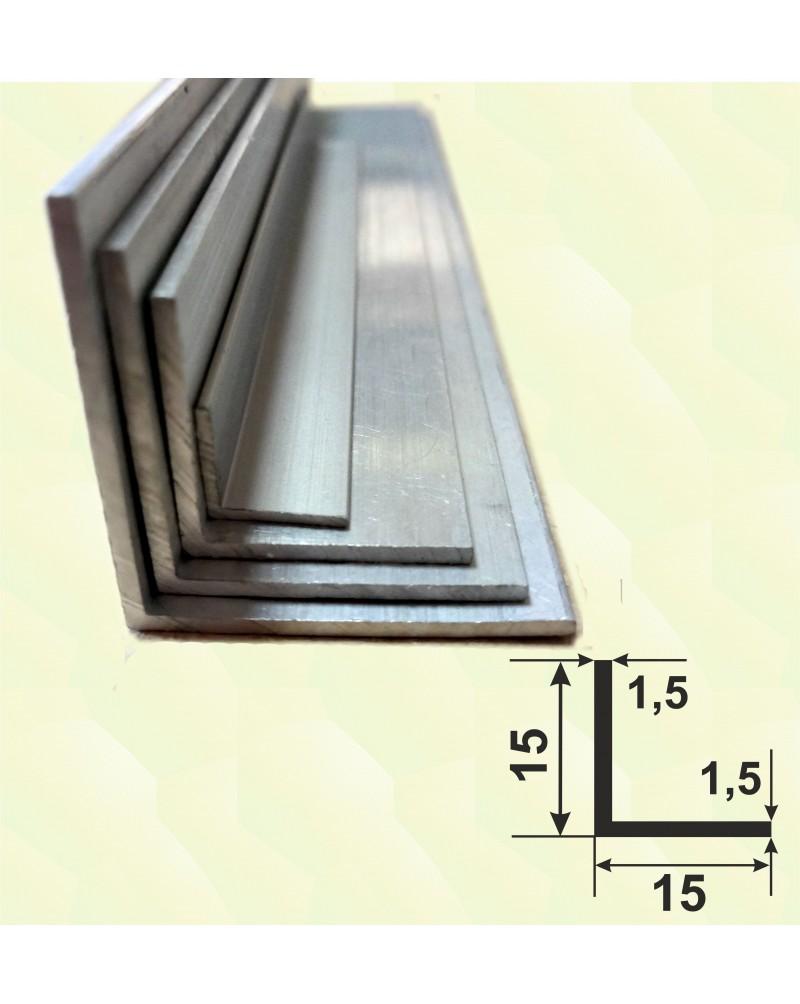 20*20*1.5. Алюминиевый уголок равносторонний, анод «Серебро» 3,0 м.
