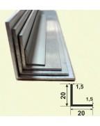 20*20*1.5. Алюмінієвий куточок рівносторонній, без покриття