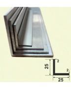 25*25*2. Алюмінієвий куточок рівносторонній, анод «срібло»