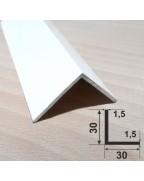 30*30*1.5. Алюмінієвий куточок рівносторонній, фарбований «Білий» 3,0 м.