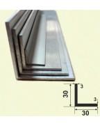 30*30*3. Алюмінієвий куточок рівносторонній, без покриття 3,0 м.