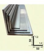 50*50*1.2. Алюминиевый уголок равносторонний, анод «Серебро» 3,0 м.