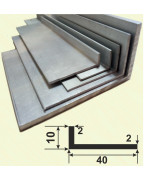 40*10*2. Алюминиевый уголок разносторонний, анод «Серебро» 3,0 м.