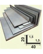 40*20*1,5. Алюмінієвий куточок різнобічний, без покриття 3,0 м.