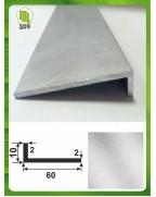 60*10*2. Алюмінієвий куточок рівносторонній, без покриття 3,0 м.