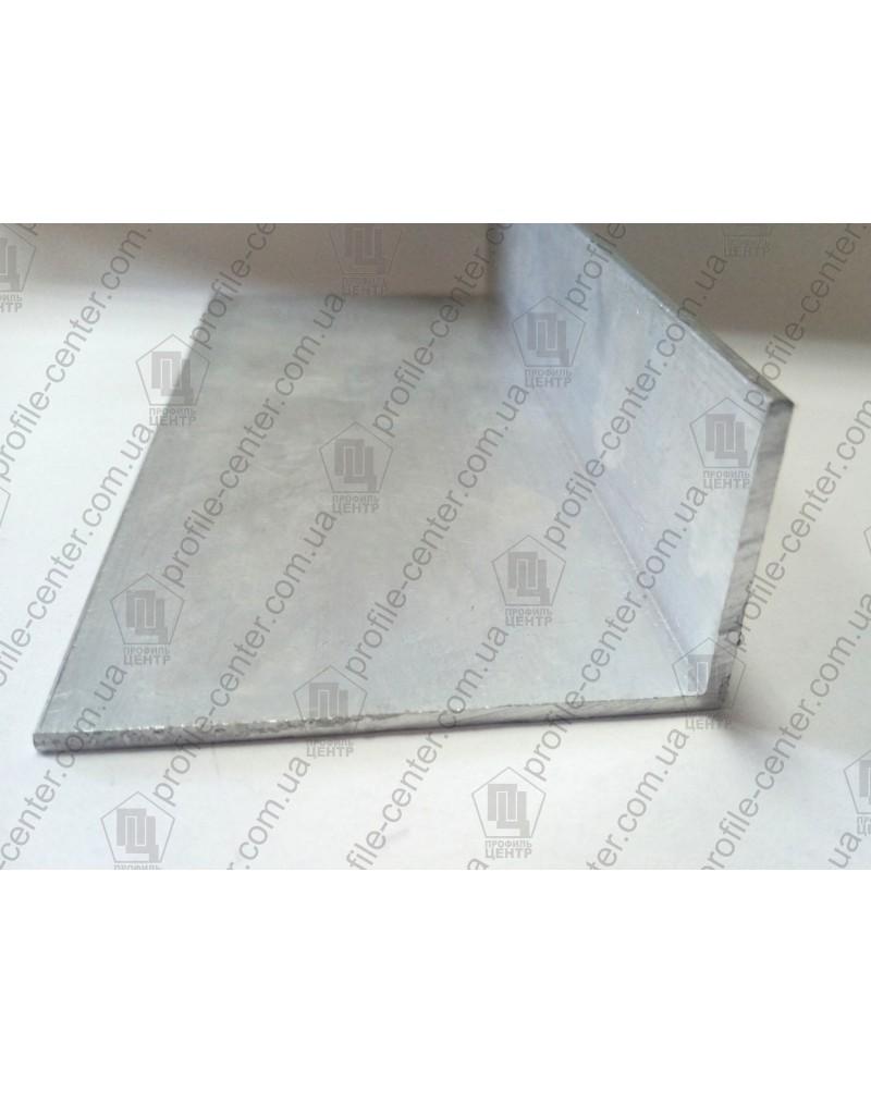 80*40*4. Алюминиевый уголок разносторонний, без покрытия