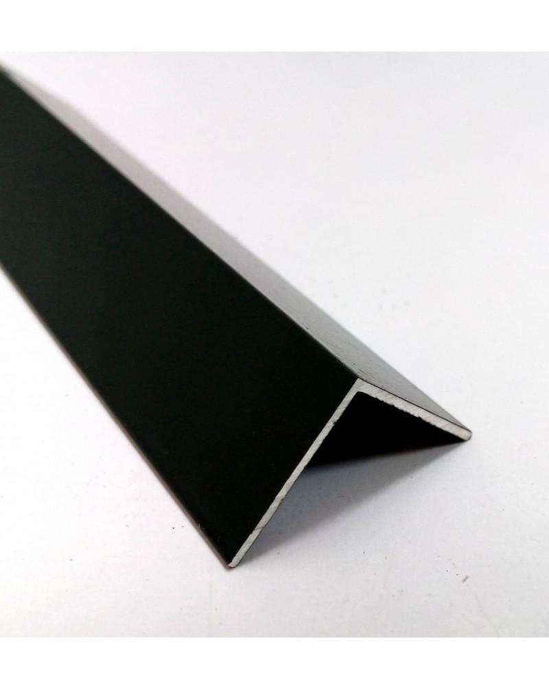 30*30*1,5. .Алюминиевый уголок равносторонний, крашенный «Черный» 3,0 м.