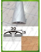 Алюминиевый порожек под дерево АП 016 дуб 1.8м, ширина 30 мм