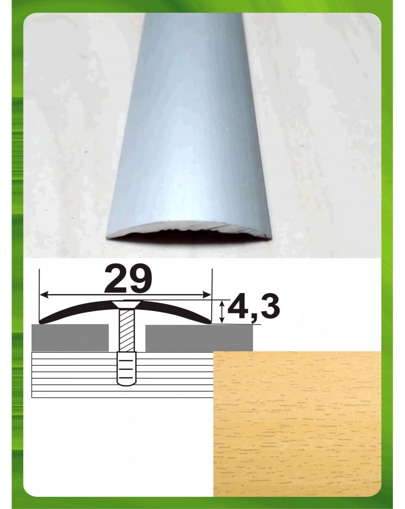 Алюмінієвий поріг під дерево АП 004 бук 1.8м, ширина 29 мм