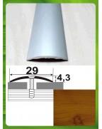 Алюминиевый порожек под дерево АП 004 ольха 2.7м, ширина 30 мм