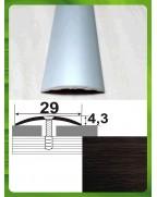 Алюминиевый порожек под дерево АП 004 венге 2.7м, ширина 29 мм