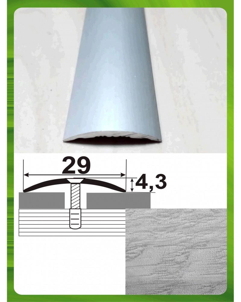 Алюмінієвий поріг під дерево АП 004 дуб сірий 0.9м, ширина 29 мм