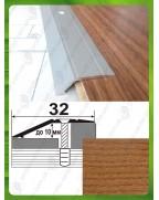 Алюминиевый порожек под дерево А 10 дуб рустик 0.9м, перепад до 10мм