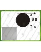 8 мм Алюминиевый круглый прут, анод «Серебро»