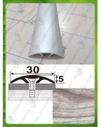 Алюминиевый порожек под дерево АП 016 акация серая 1.8м, ширина 30 мм