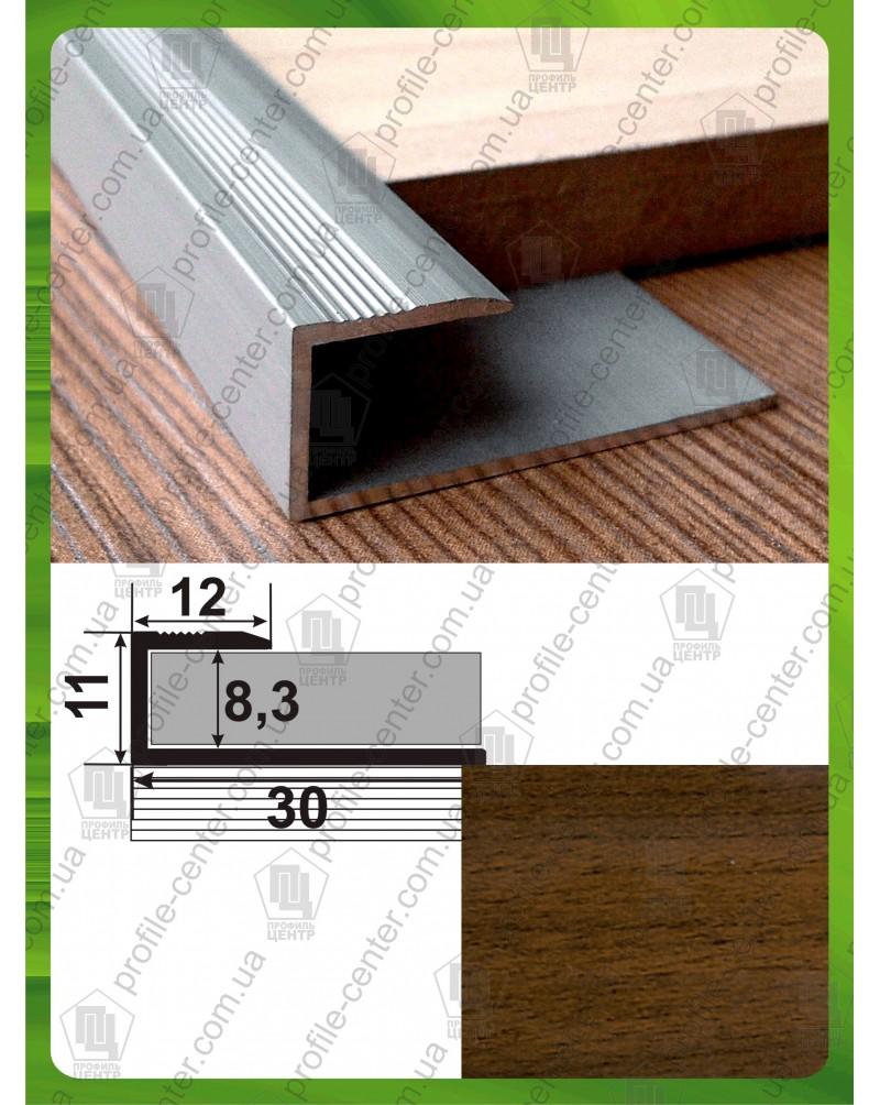 L-образный алюминиевый профиль. СУ 8 ольха 2.7м