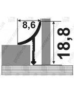 Алюминиевый универсальный внутренний угол для плитки. АВП анод «бронза» 2.7м
