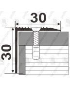 Алюминиевый порожек для ступеней А 30*30 бронза 2.7м, 30мм*30мм