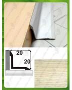 Алюминиевый порожек под дерево АВ 20*20 ясень 2.7м, 20мм*20мм