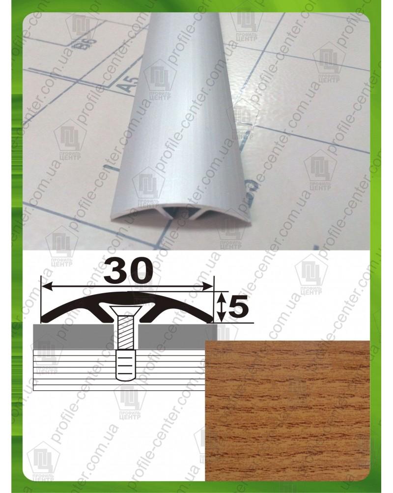 Алюминиевый порожек под дерево АП 016 дуб рустик 0.9м, ширина 30 мм