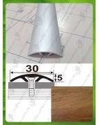 Алюминиевый порожек под дерево АП 016 дуб шервуд 2.7м, ширина 30 мм