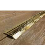 Л 014. Латунный порожек стыковочный, перепад 5 мм. Длина 1.8 м